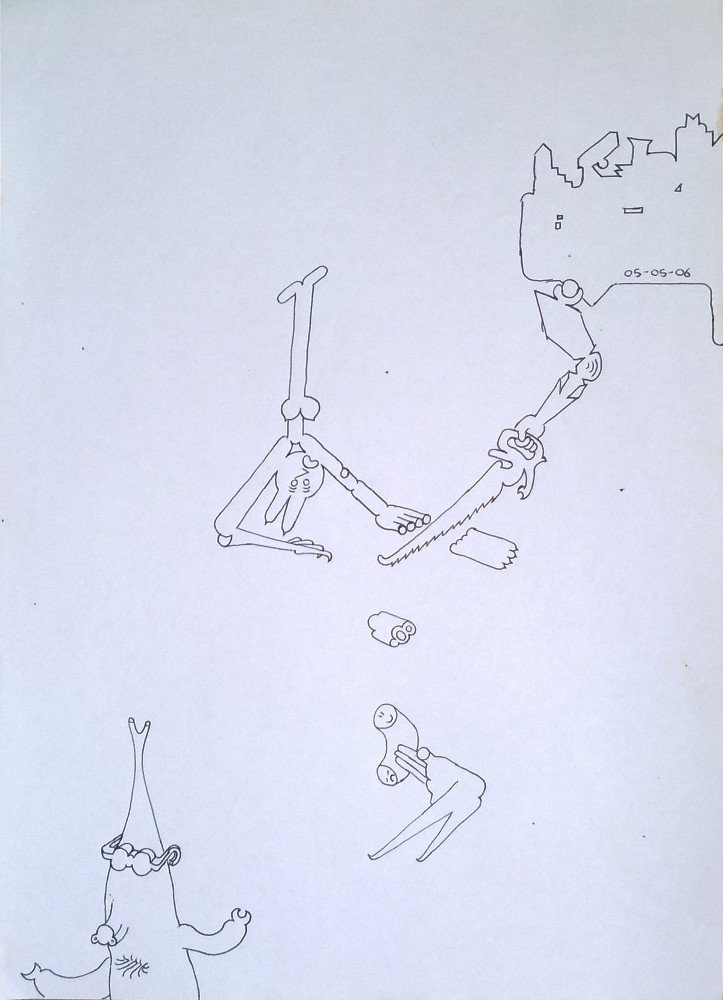 Untitiled Drawing (Saw)