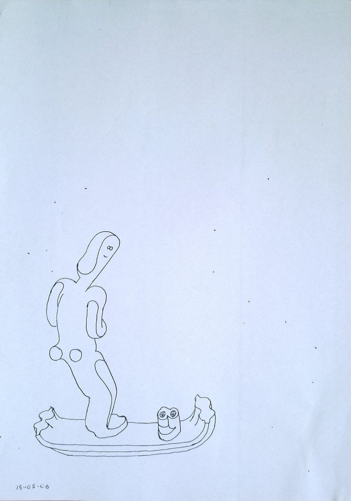 Untitiled Drawing (Surfer)